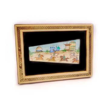 MT-12_persian miniature with Marquetry wooden frame_ 1 kom (2)