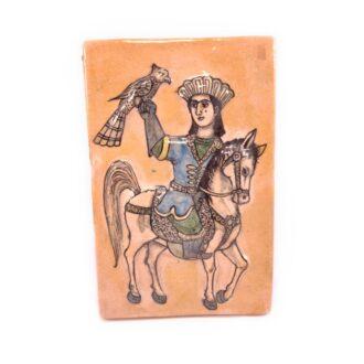 CT-24 _ Ceramic tile - horse rider 1 kom (2)