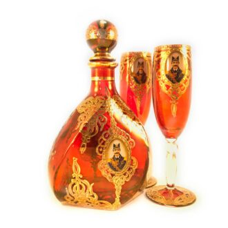 GD-5 _ Wine bottle with glasses - Qajar 1 set (3)