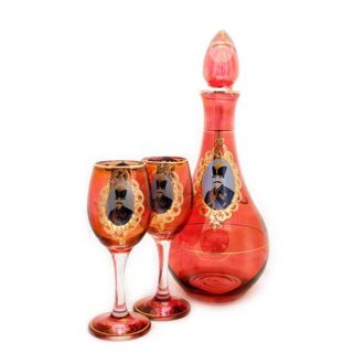 GD-7_Champagne bottle with glasses - Qajar_1 set (2)