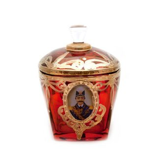 GD-8_ Crystal sugar bowl - Qajar_ 2 kom