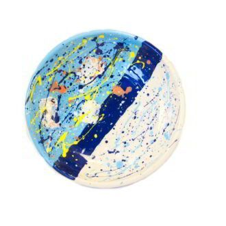 GC_127-Wheel Thrown Abstract Pottery Plate_1 kom