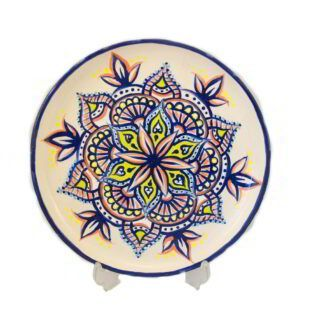 GC_128_Unique Hand-Painted Mandala Plate_1 kom