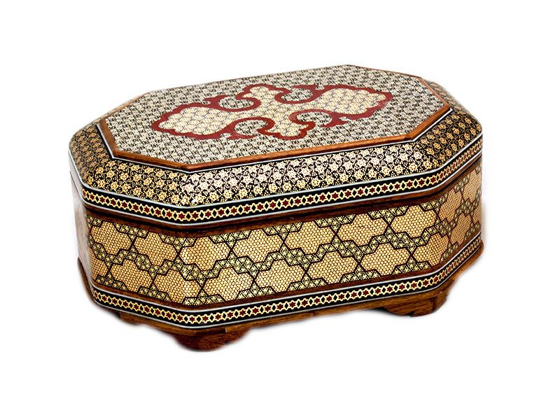 Persian Marquetry Wooden Jewelry Box