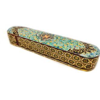 MQ-K8_ Marquetry & Gilding Pencil box_ 1 kom (2)
